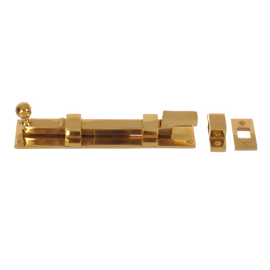 Cranked Priory Door Bolt in Polished Brass