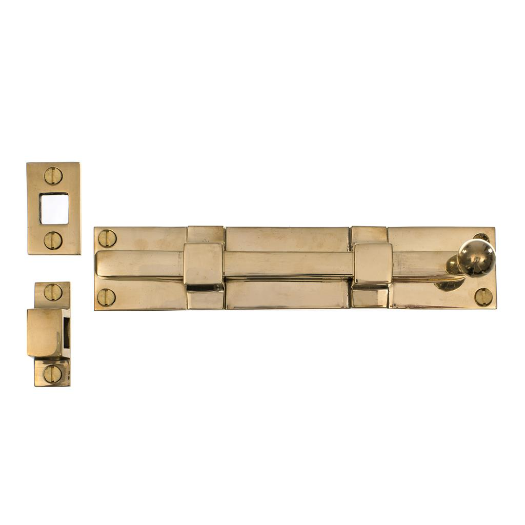 Priory Door Bolt in Polished Brass
