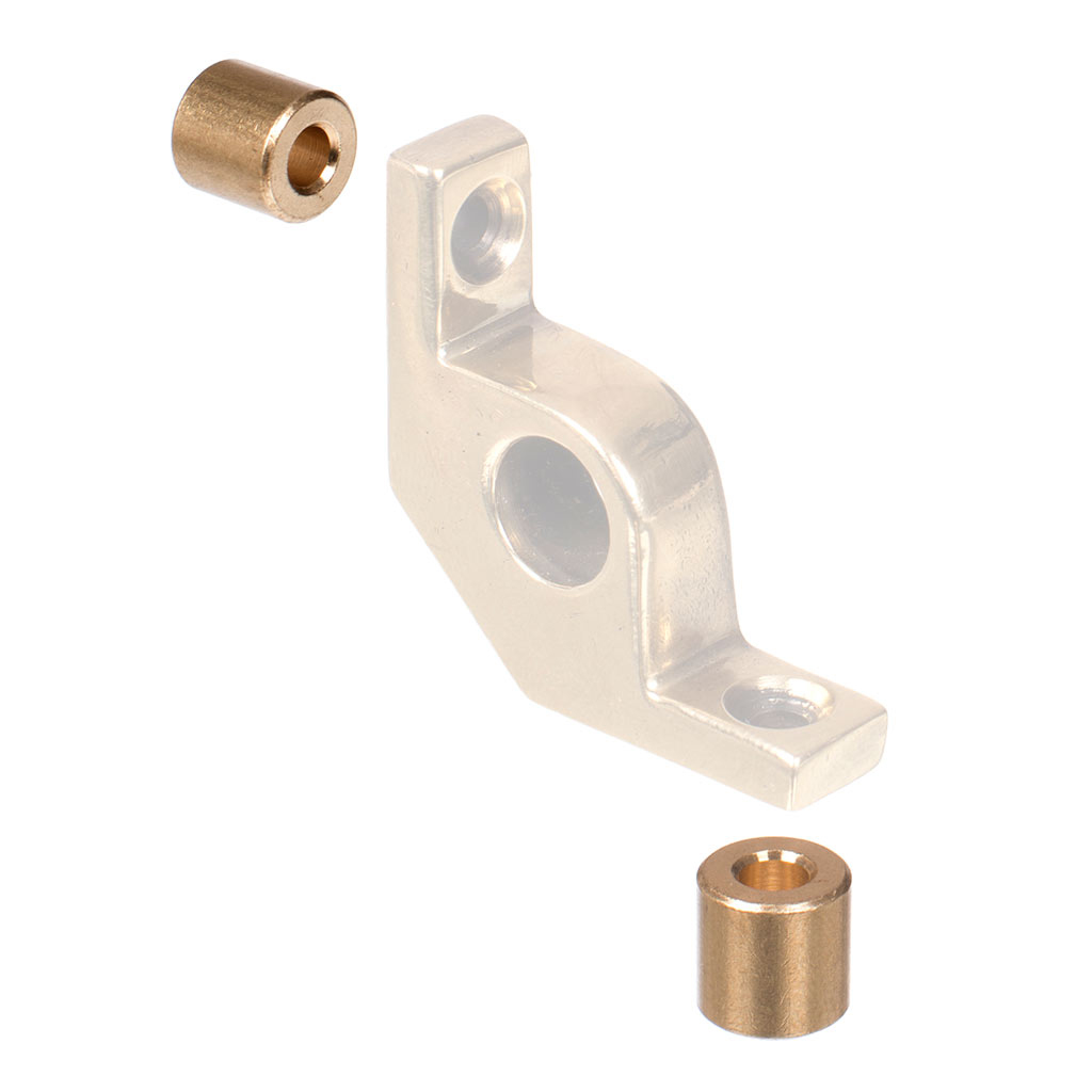 10mm Stair Rod Spacer in Polished Brass