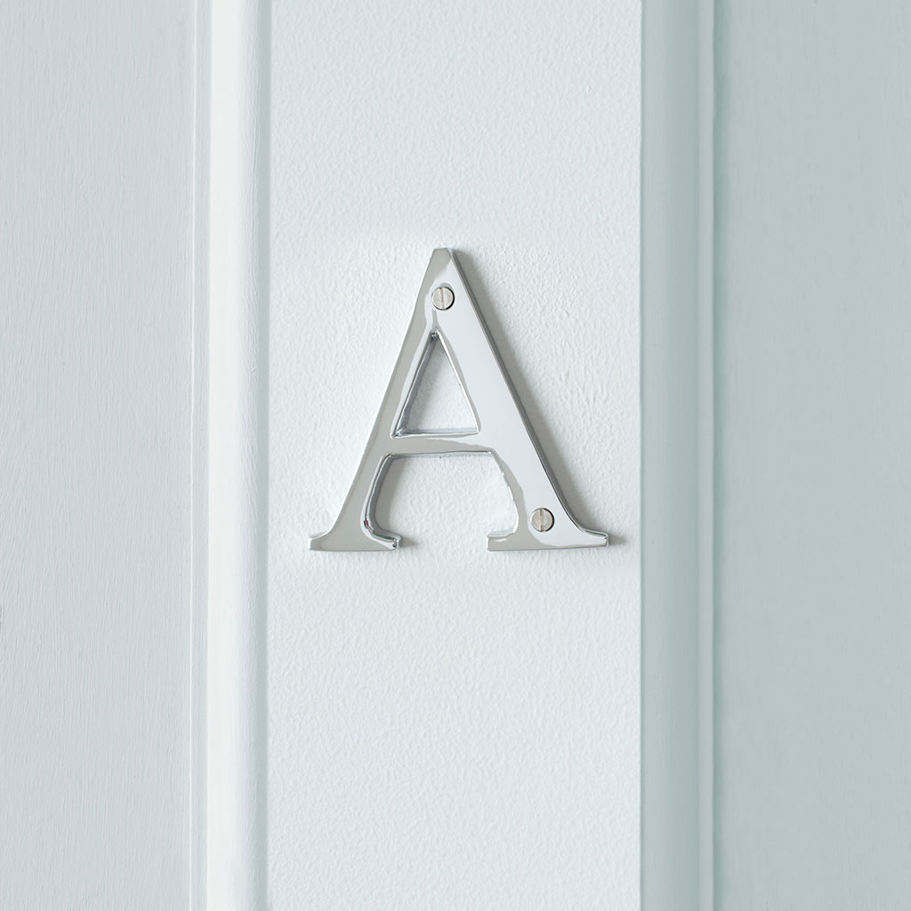 Letter A in Nickel