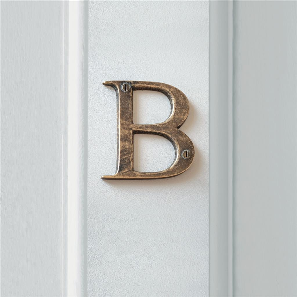 Letter B in Antiqued Brass