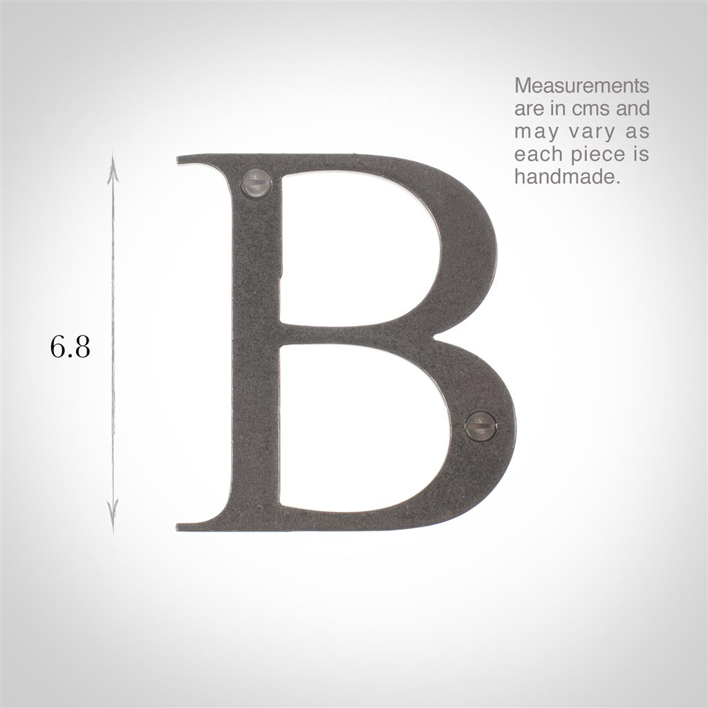 Letter B in Polished