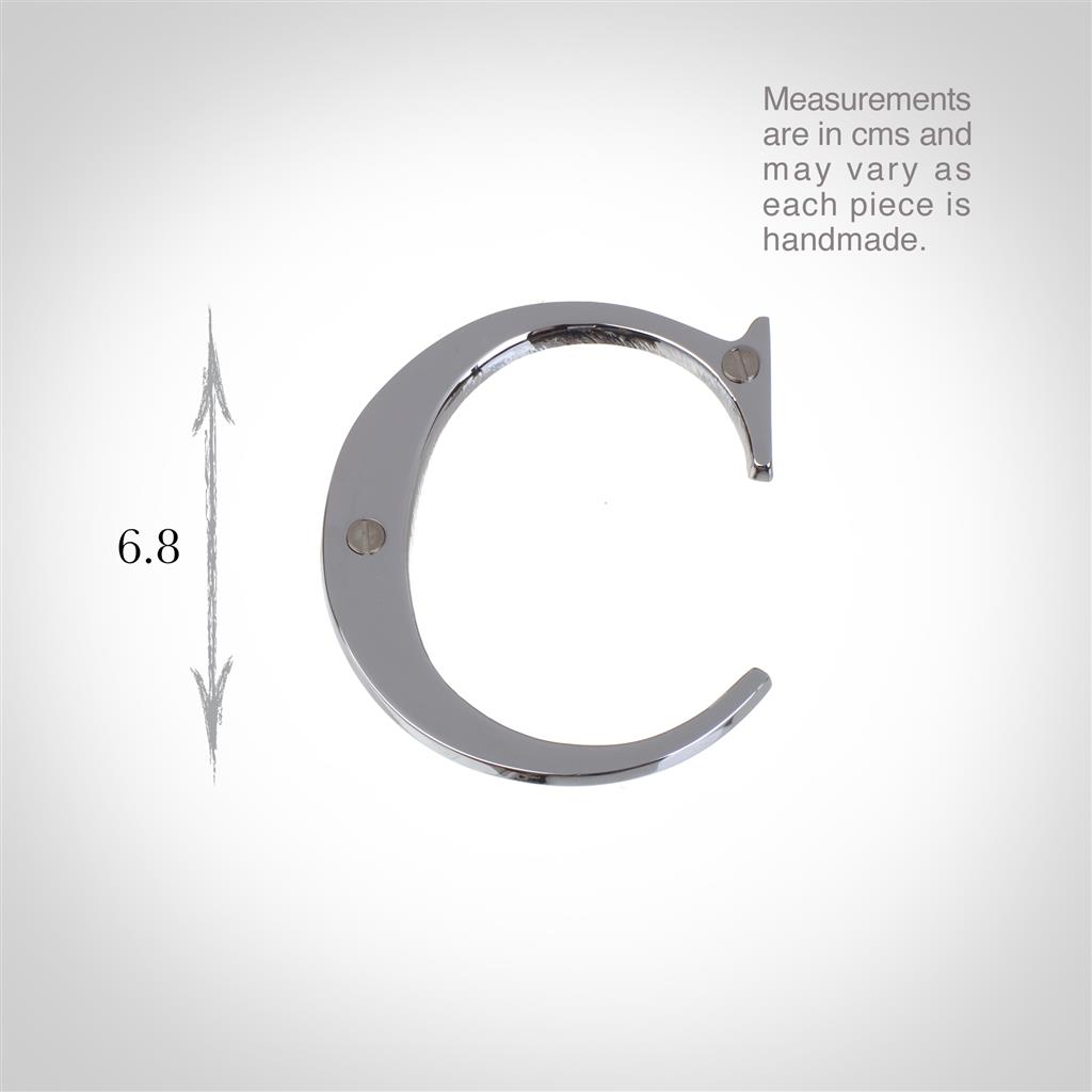 Letter C in NIckel