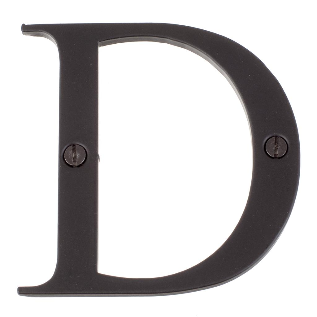 Letter D in Matt Black