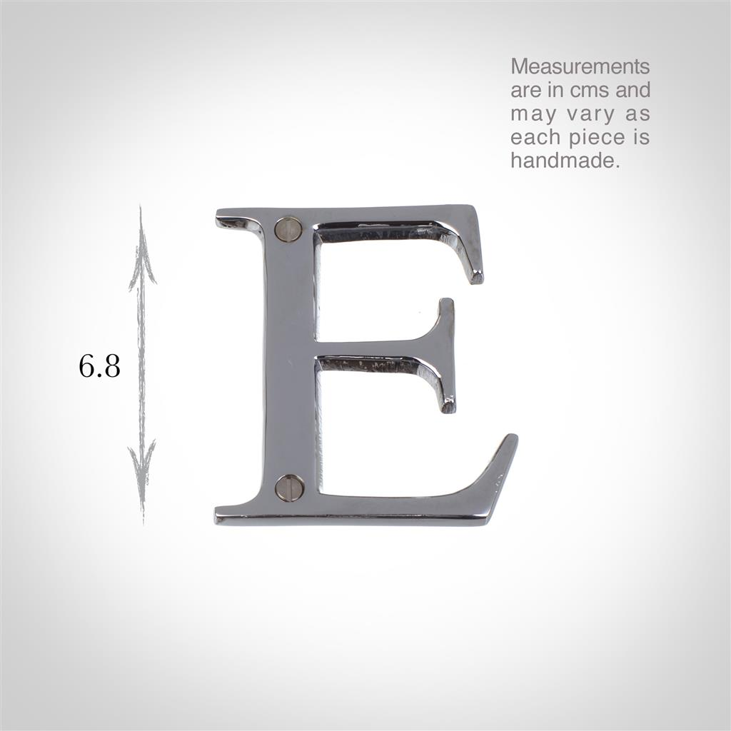 Letter E in Nickel