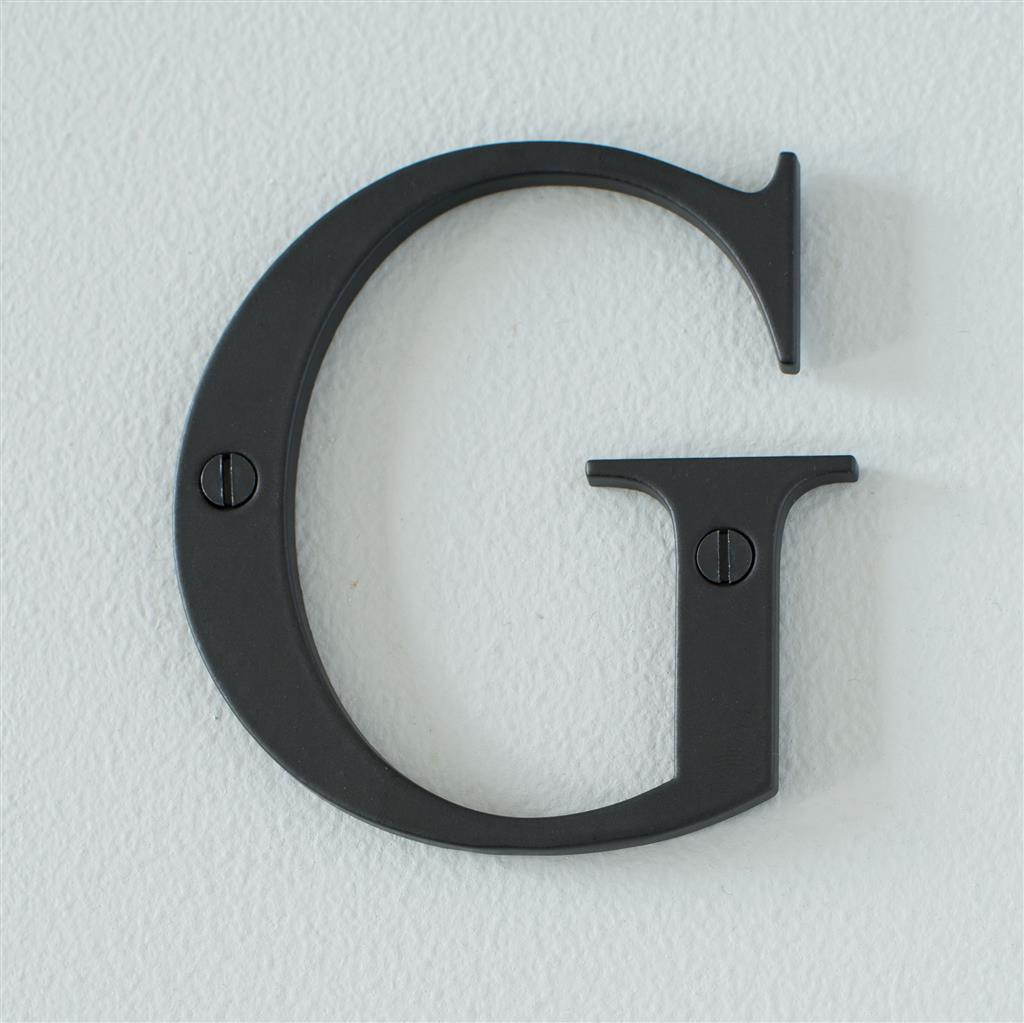 Letter G in Matt Black