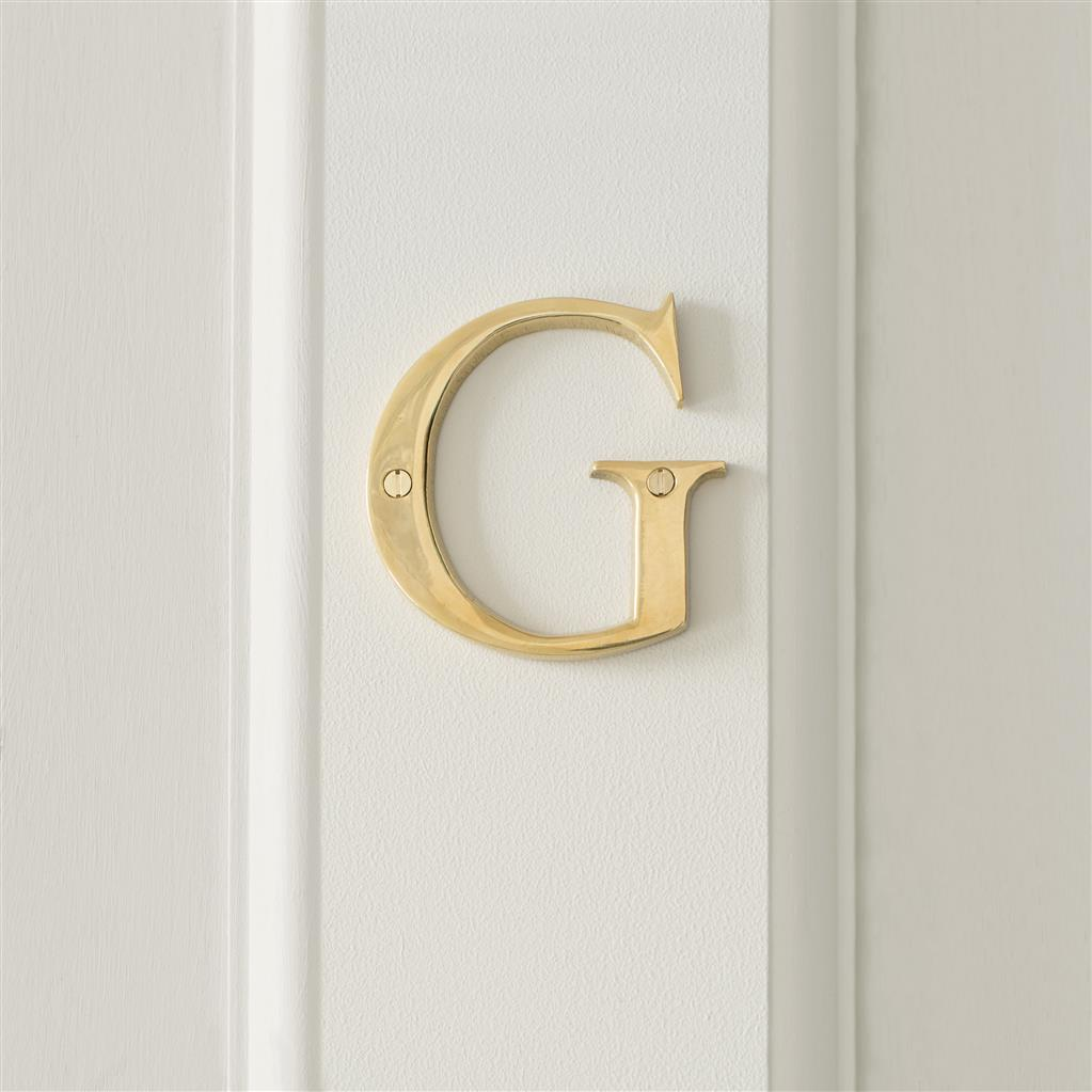 Letter G in Polished Brass