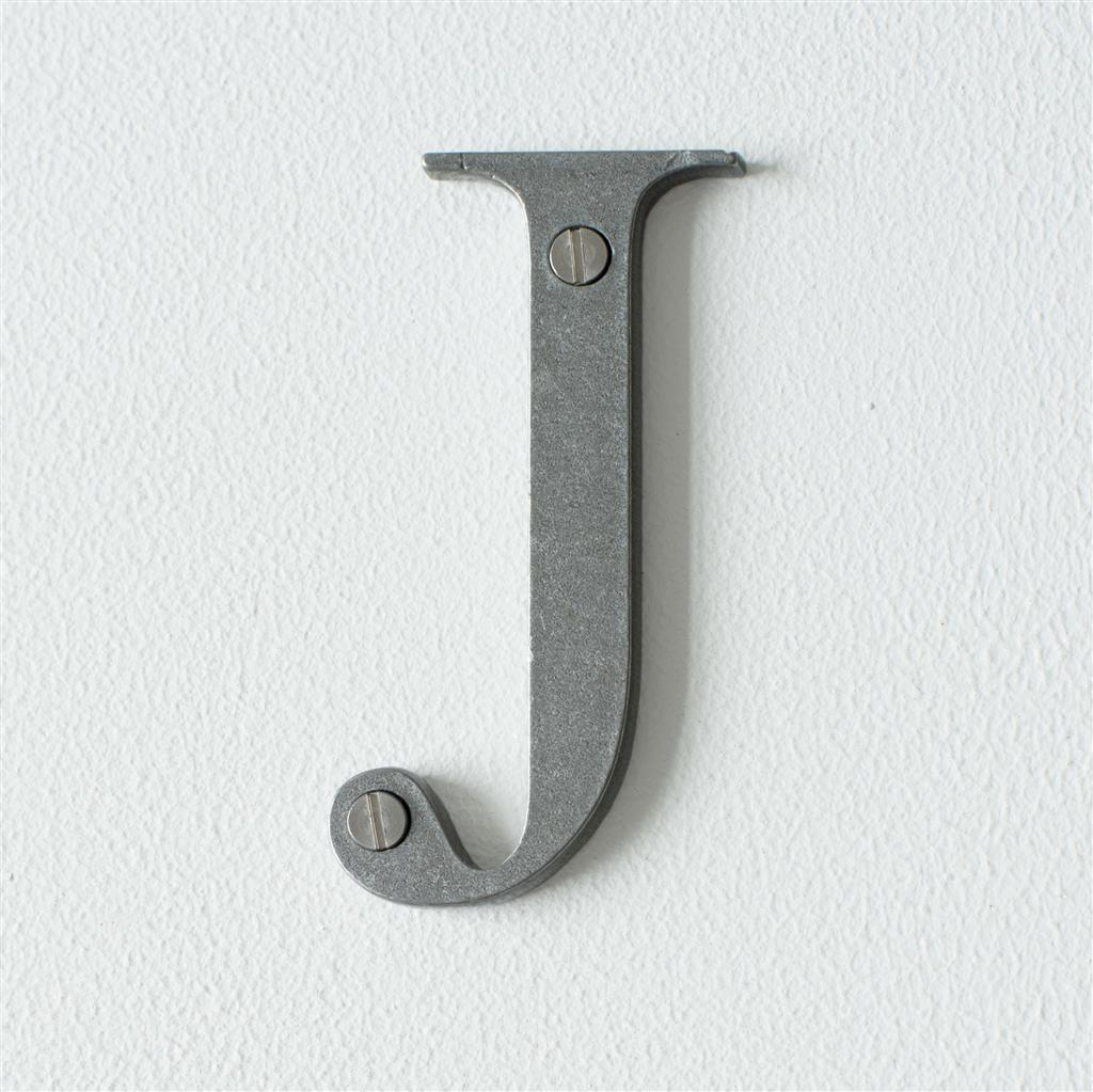 Letter J in Polished