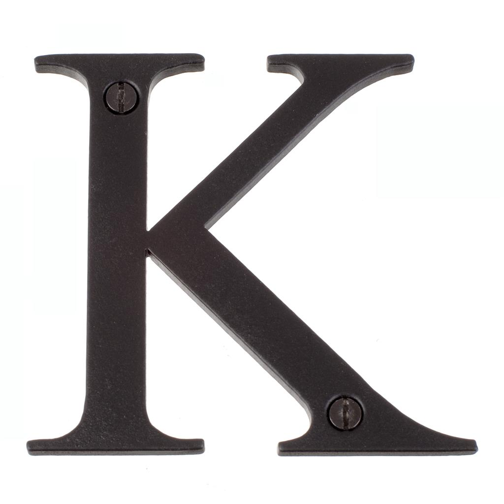 Letter K in Matt Black