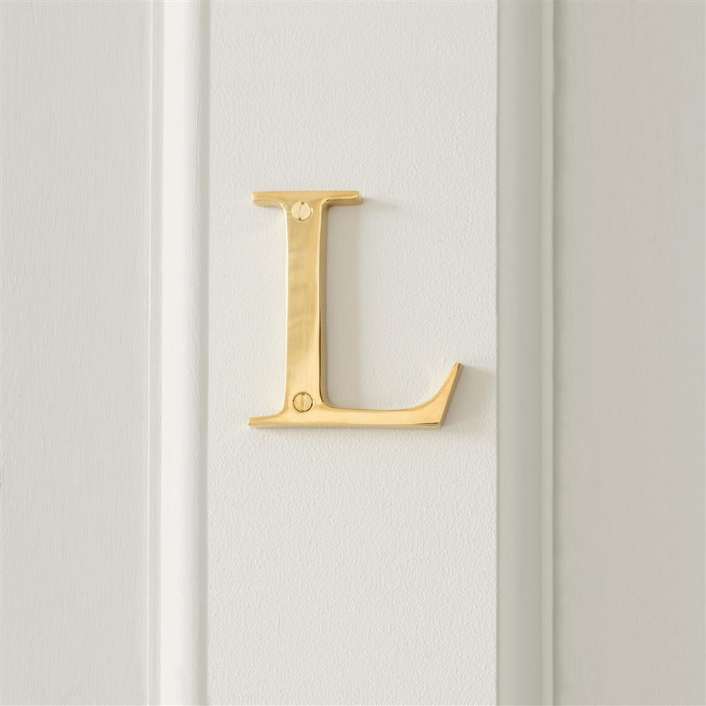 Letter L in Polished Brass