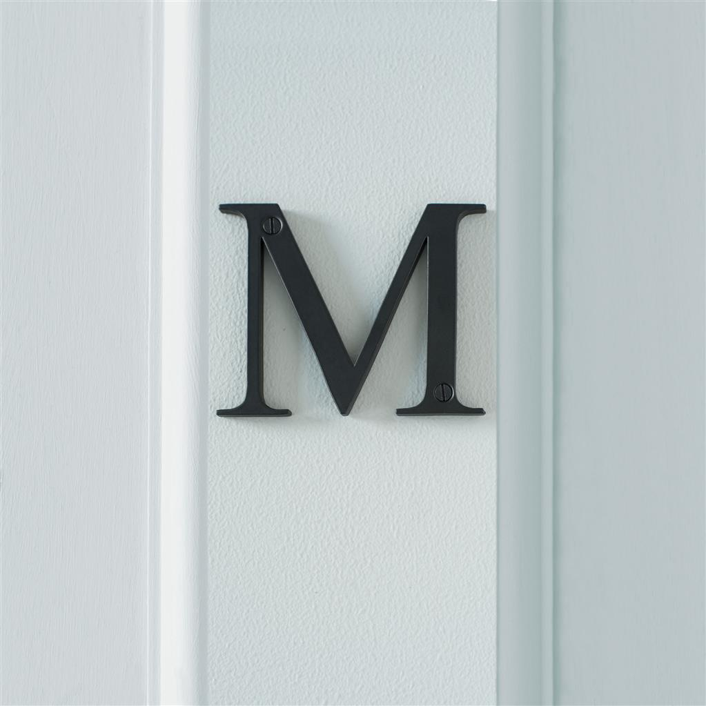 Letter M in Matt Black