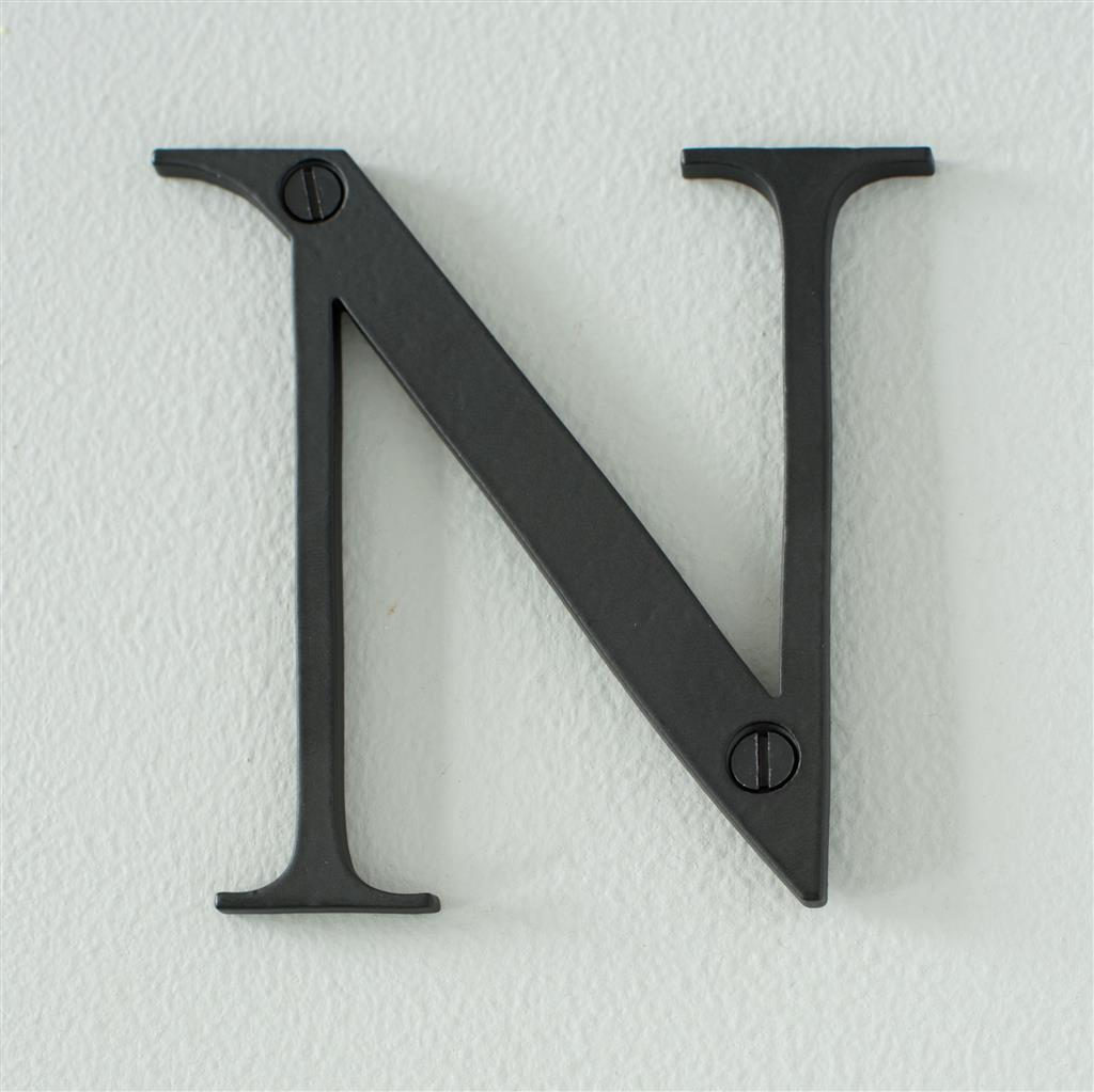 Letter N in Matt Black