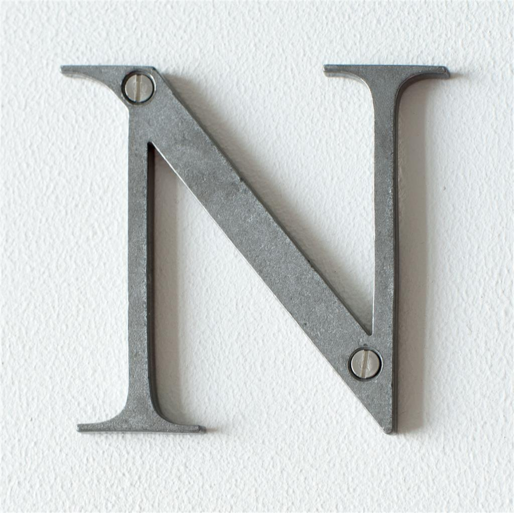 Letter N in Polished