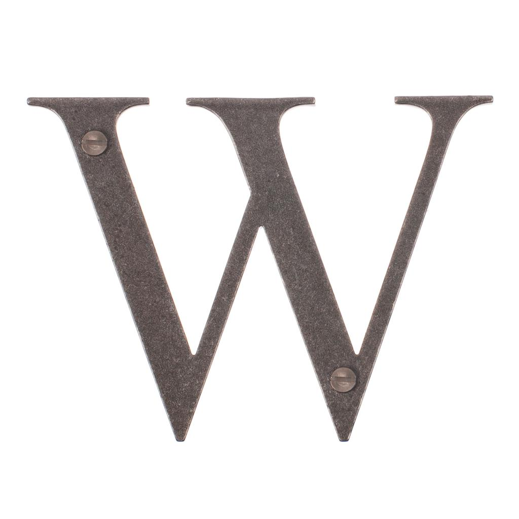 Letter W in Polished