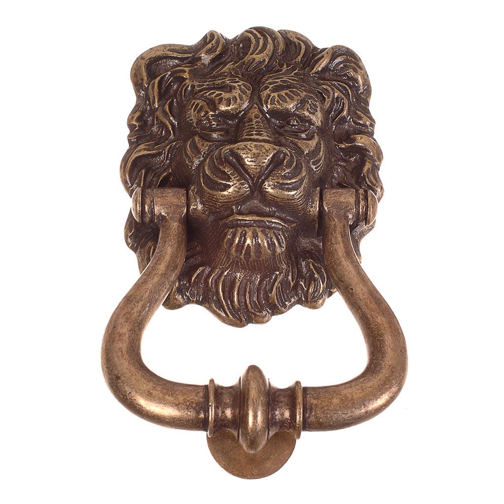 Lion 39 s head door knocker door accessories ironmongery - Lion head brass door knocker ...