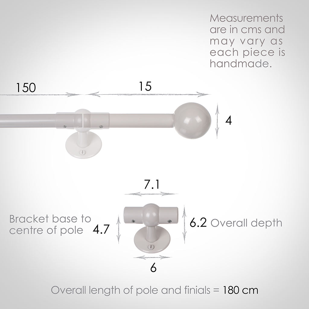 1.5m 16mm Cannonball Pole Pack in Clay