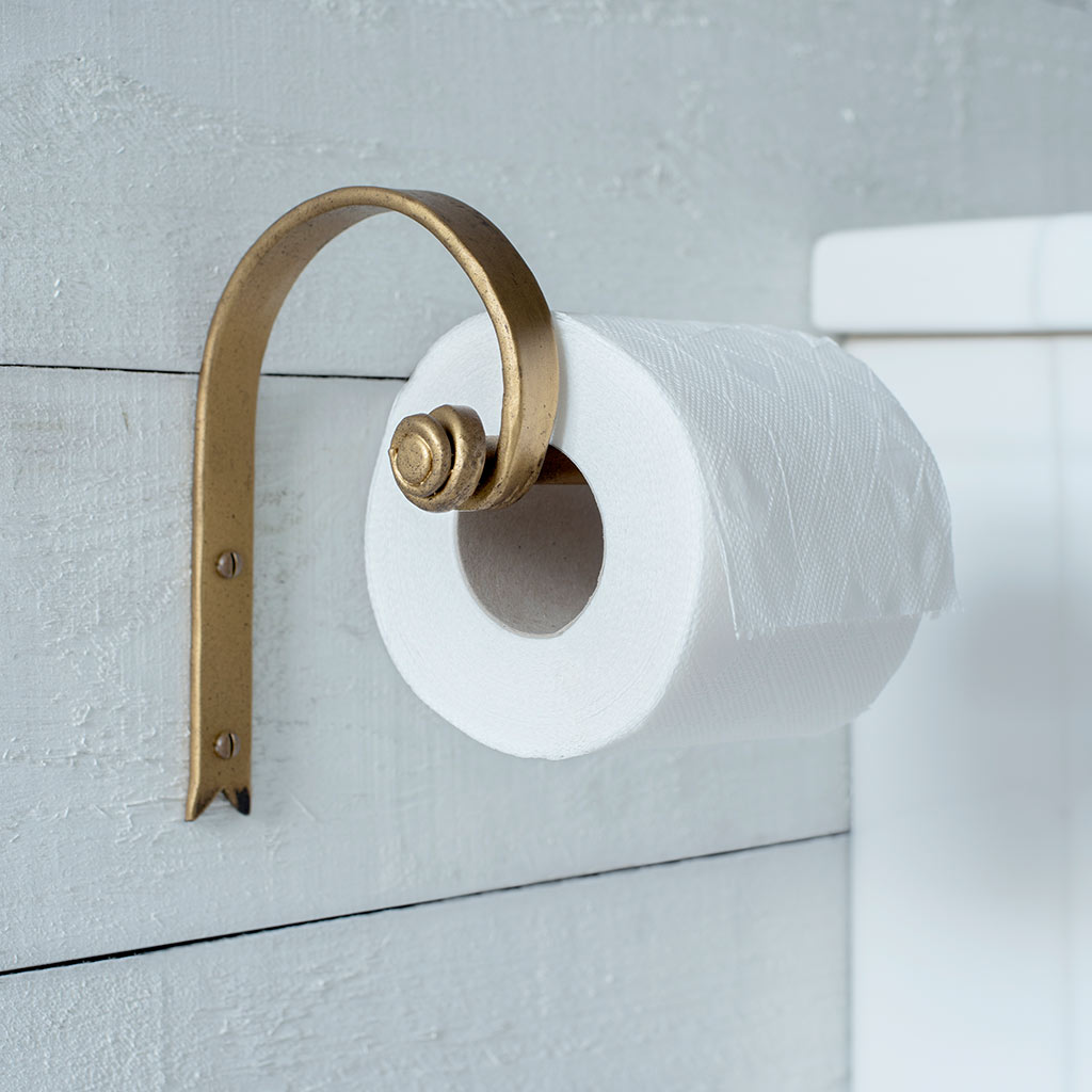 Hatton Loo Roll Holder in Old Gold