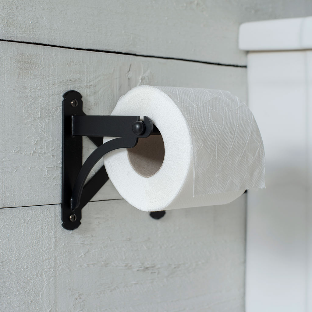 Pembroke Loo Roll Holder in Matt Black