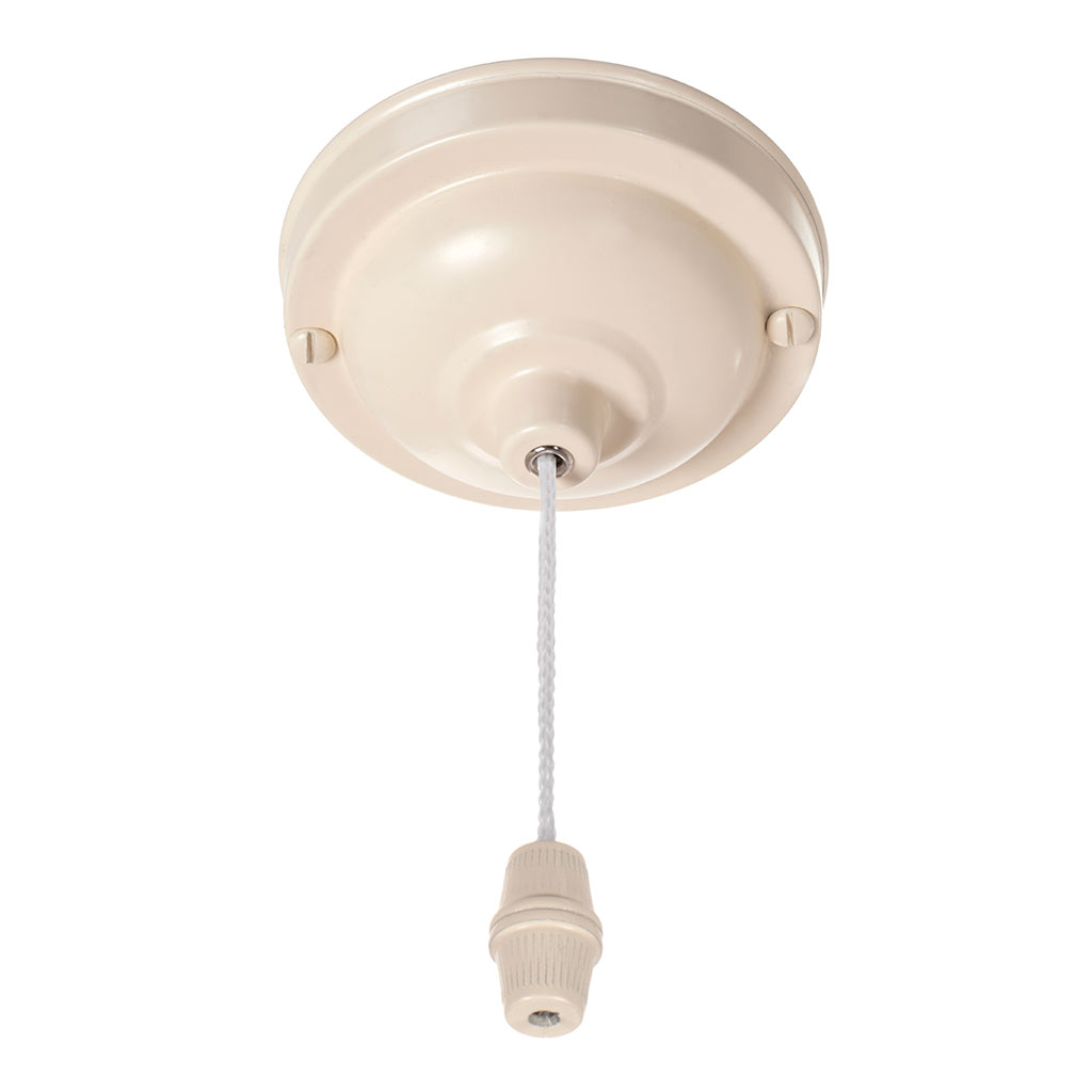 Ceiling Switch and Cover in Plain Ivory