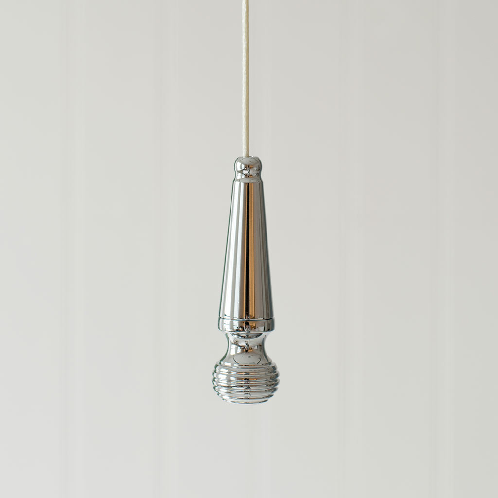 Reeded Light Pull in Nickel Plate