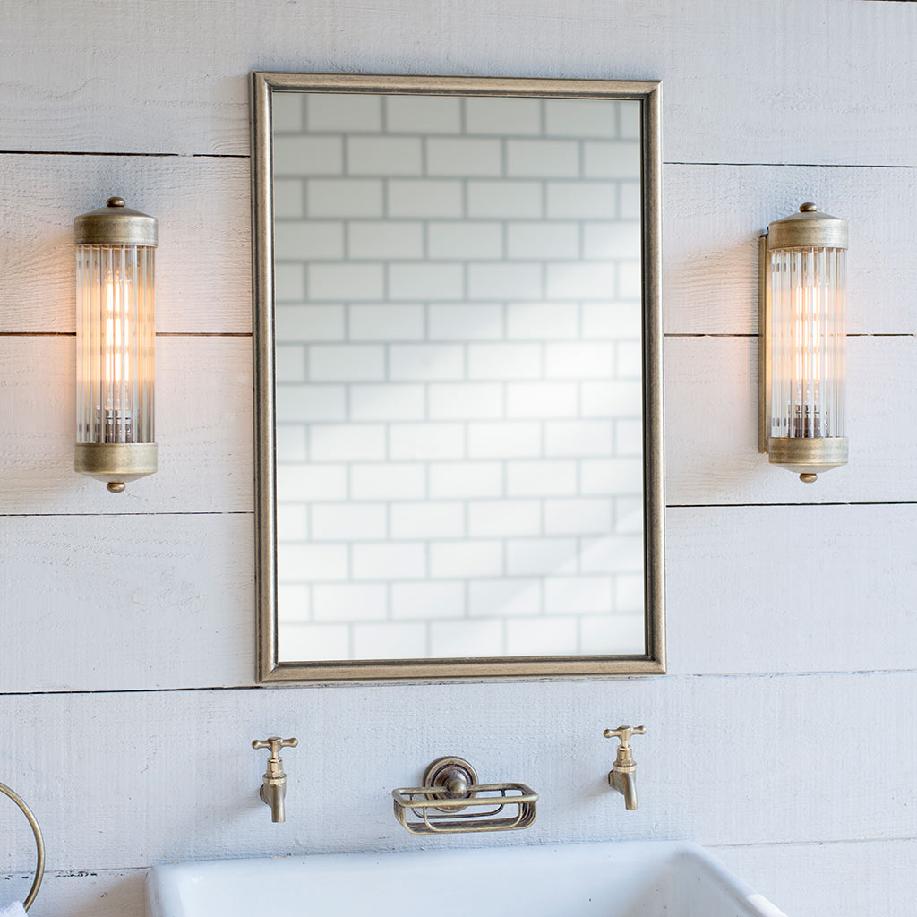 Stamford Mirror in Antiqued Brass
