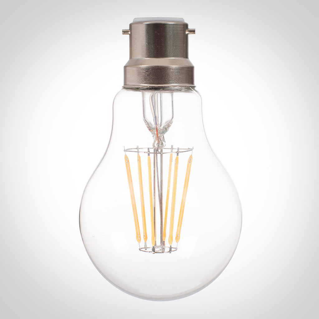 BC (B22) Classic GLS LED Filament Bulb, Dimmable