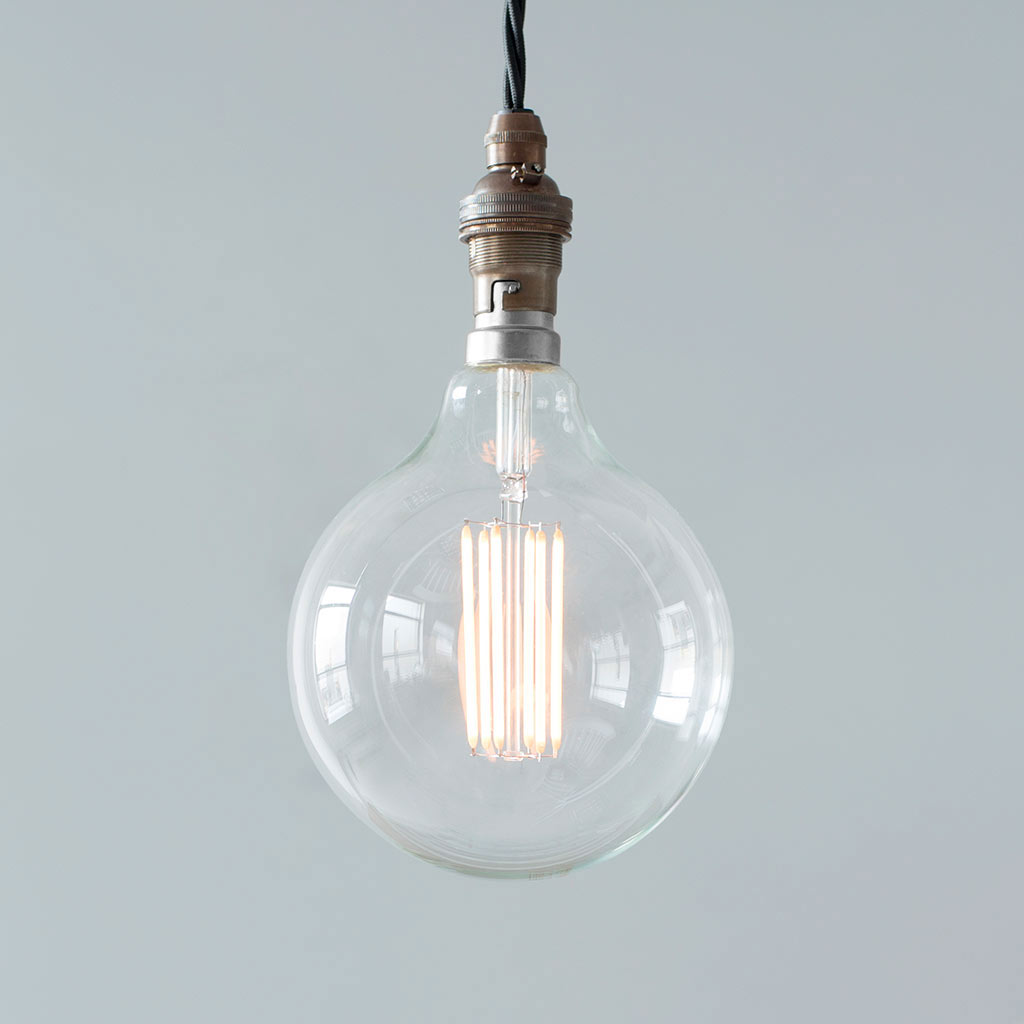 6 Watt G125 (B22) Globe LED Filament Bulb