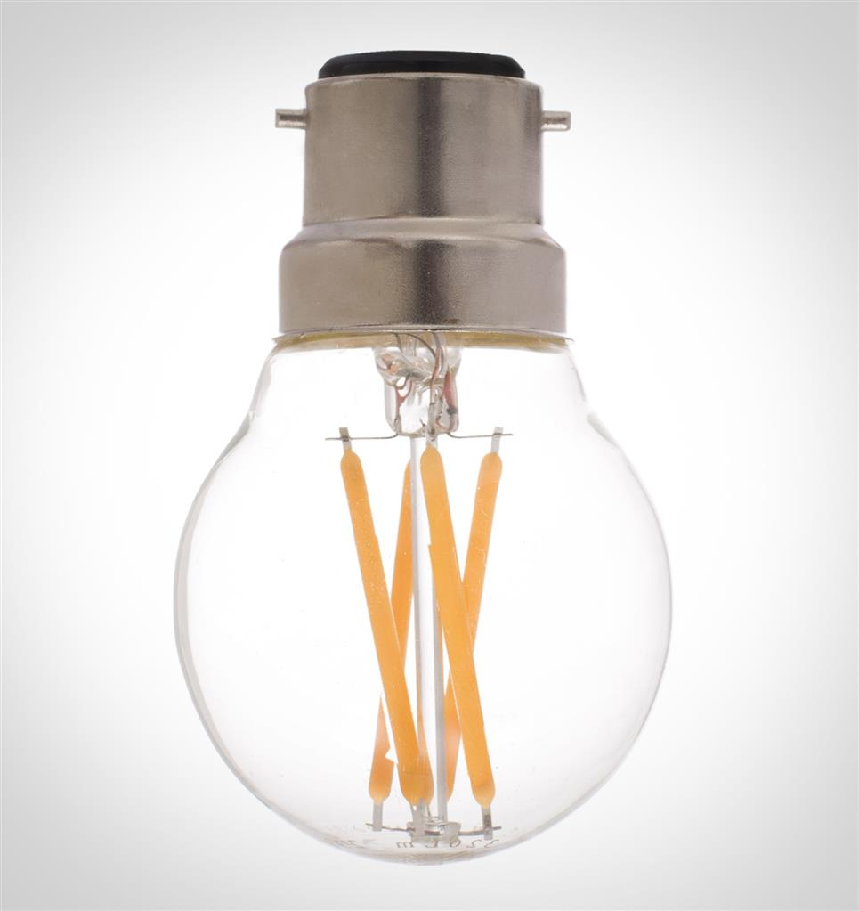 BC (B22) Golf Ball LED Filament Bulb, Dimmable