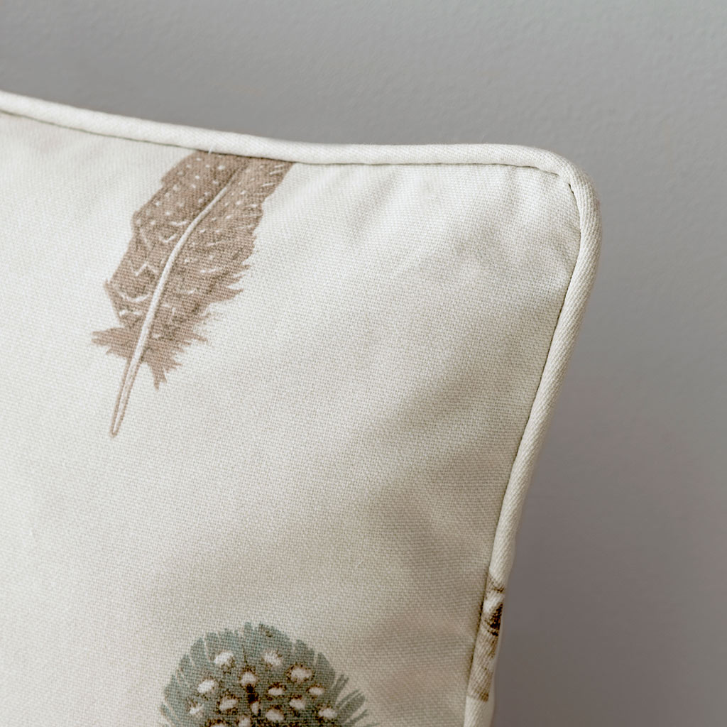 Featherdown Cushion in Stone