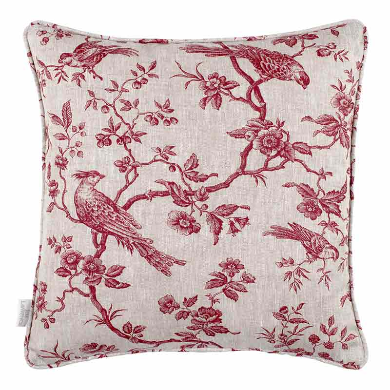 Isabelle Cushion Cover in Red