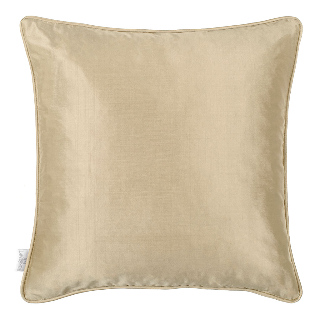 Plain Silk Cushion Cover in Royal Oyster
