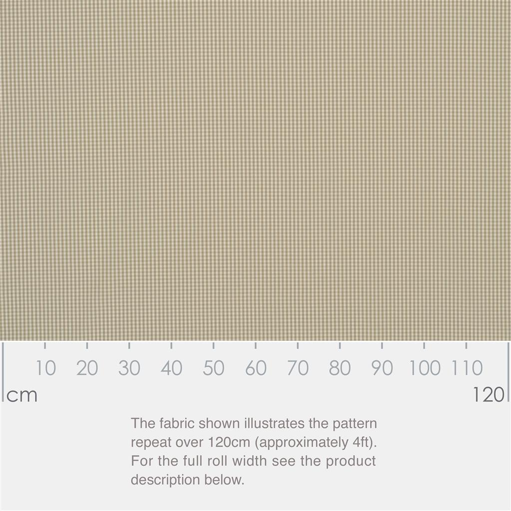 Longford Gingham Fabric in Natural