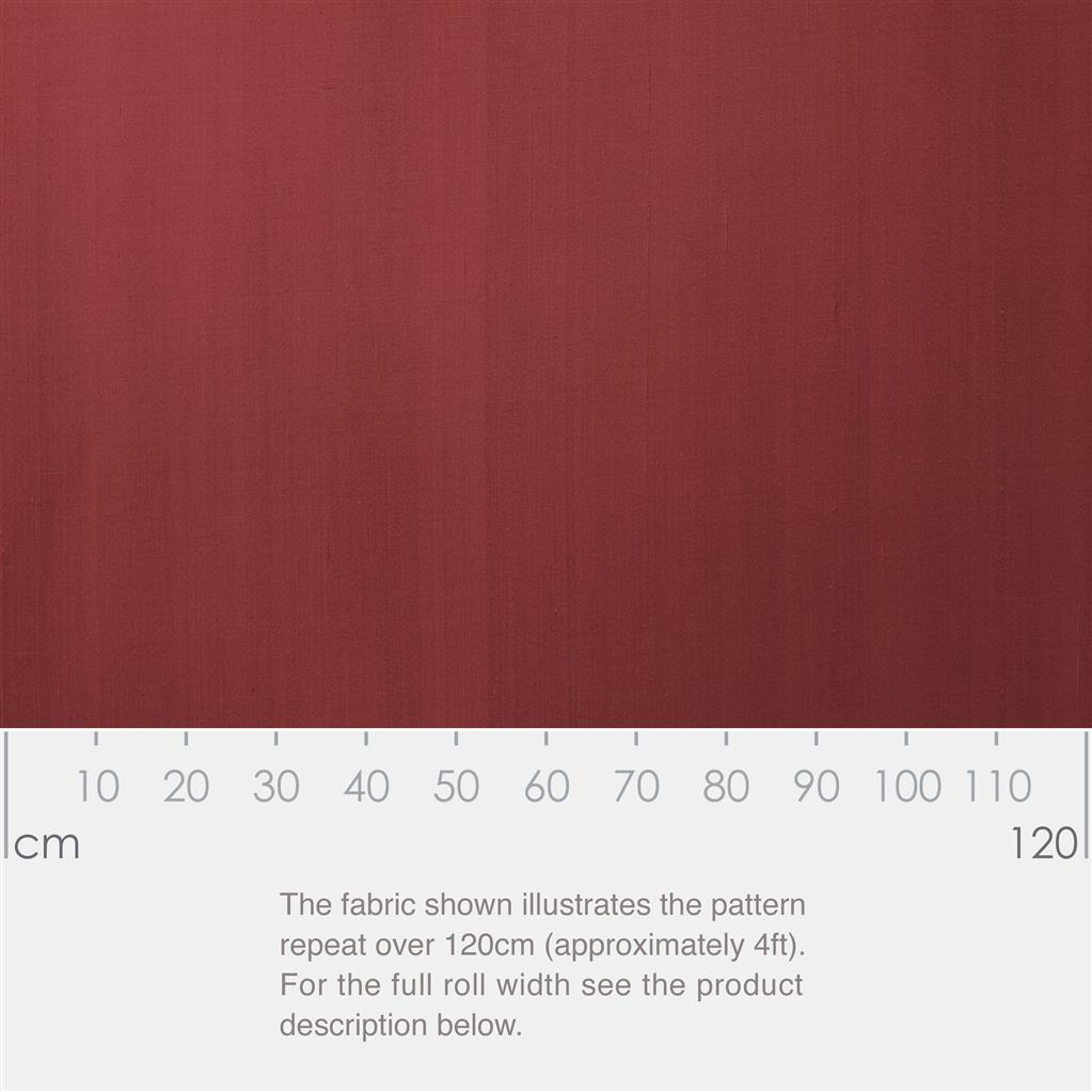 Silk Dupion Fabric in Antique Red