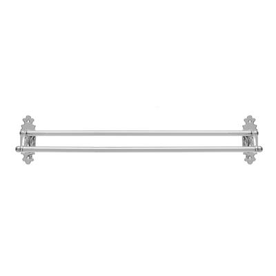 Stratford Double Towel Rail in Nickel