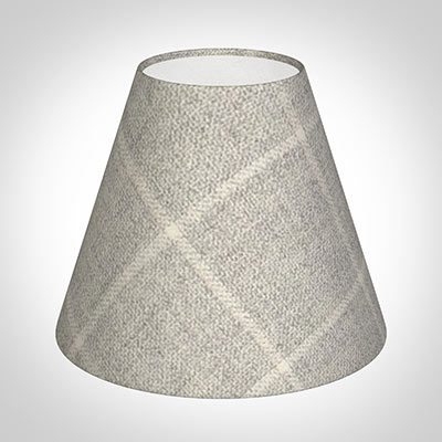 Bathroom Candle Shade in Stirling Check Lovat Wool