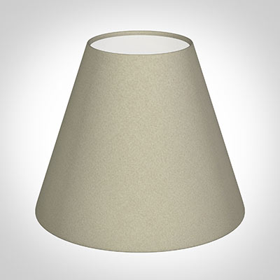 Bathroom Candle Shade in Pale Smoke Satin