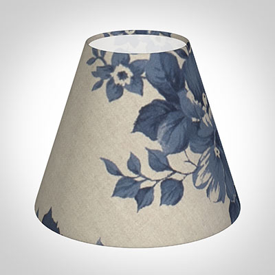 Candle Shade in Blue Bloom