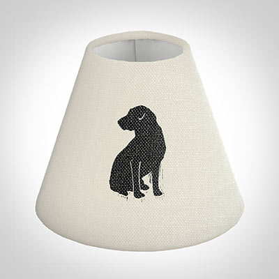 Candle Shade in Natural Black Labrador