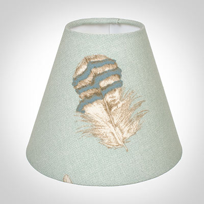 Candle Shade in Duck Egg Featherdown