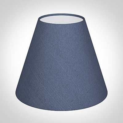 Candle Shade in Blue Faux Silk