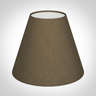 Candle Shade in Bronze Faux Silk