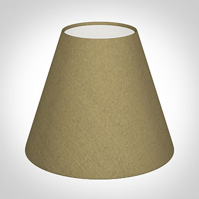 Candle Shade in Dull Gold Faux Silk