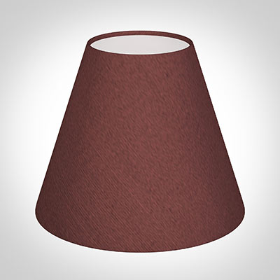 Candle Shade in Old Red Faux Silk