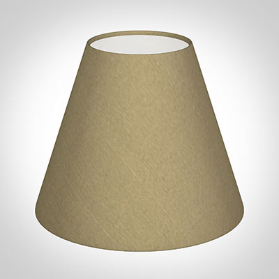 Candle Shade in Oyster Faux Silk