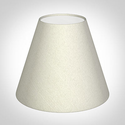 Candle Shade in Pearl Faux Silk