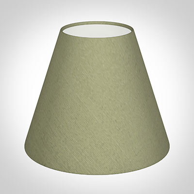Candle Shade in Pale Green Faux Silk Dupion