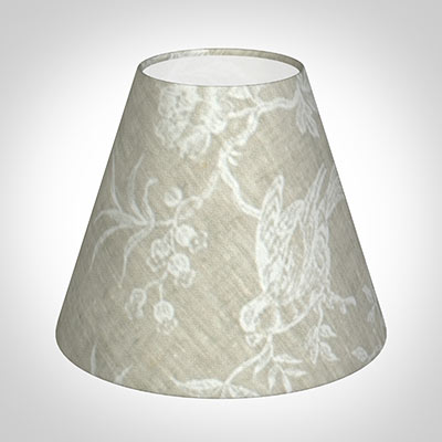 Candle Shade in White Isabelle Linen (Bird)