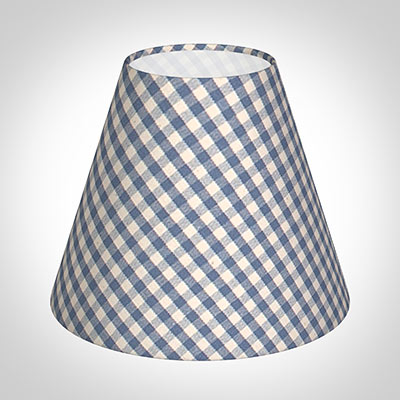 Candle Shade in Azure Blue Gingham