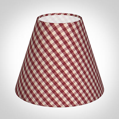 Candle shade in postbox red gingham red lamp shades 10can15lgpr 11g aloadofball Images
