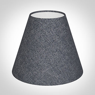 Candle Shade in Granite Herringbone Lovat Tweed